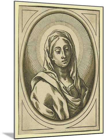 Head of the Virgin, Between 1630 and 1655-Bartolomeo Coriolano-Mounted Giclee Print