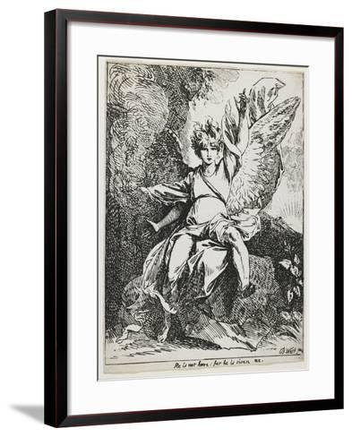 The Angel of the Resurrection , from Specimens of Polyautography, 1801 (Published 1803)-Benjamin West-Framed Art Print