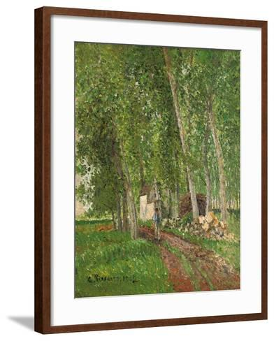Undergrowth at Moret, 1902-Camille Pissarro-Framed Art Print