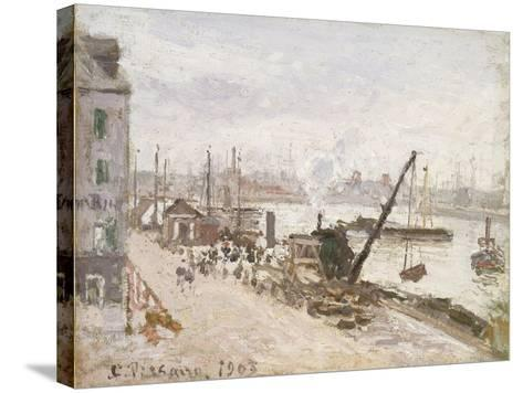 Quayside at Le Havre, 1903-Camille Pissarro-Stretched Canvas Print