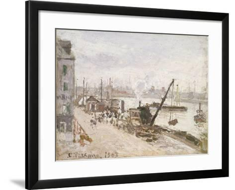 Quayside at Le Havre, 1903-Camille Pissarro-Framed Art Print