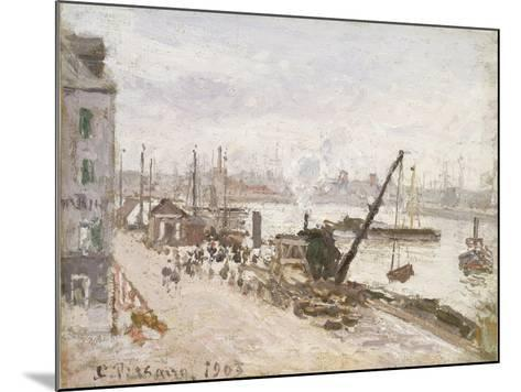 Quayside at Le Havre, 1903-Camille Pissarro-Mounted Giclee Print