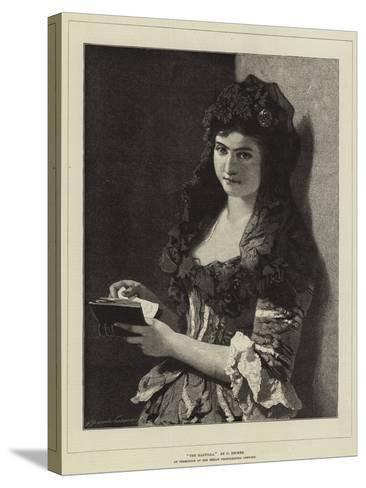 The Mantilla-Carl Ludwig Friedrich Becker-Stretched Canvas Print