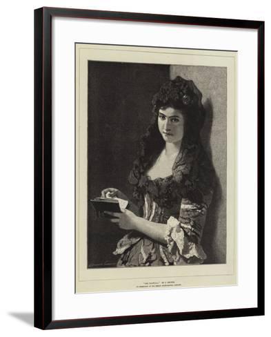 The Mantilla-Carl Ludwig Friedrich Becker-Framed Art Print