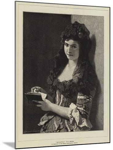 The Mantilla-Carl Ludwig Friedrich Becker-Mounted Giclee Print