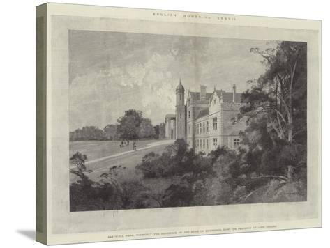 Eastwell Park, Formerly the Residence of the Duke of Edinburgh, Now the Property of Lord Gerard-Charles Auguste Loye-Stretched Canvas Print