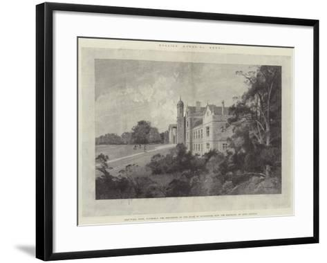 Eastwell Park, Formerly the Residence of the Duke of Edinburgh, Now the Property of Lord Gerard-Charles Auguste Loye-Framed Art Print