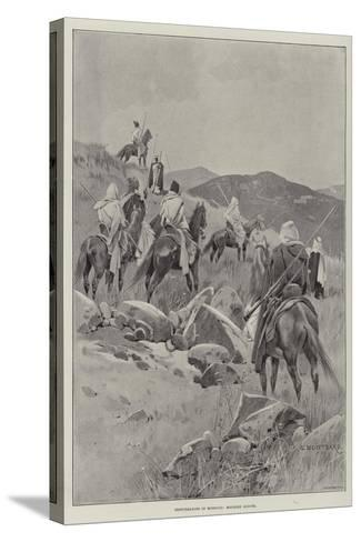 Disturbances in Morocco, Moorish Scouts-Charles Auguste Loye-Stretched Canvas Print