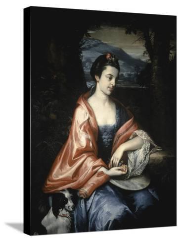 Ann Allen, Later Mrs John Penn, August 1763-Benjamin West-Stretched Canvas Print