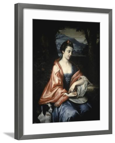 Ann Allen, Later Mrs John Penn, August 1763-Benjamin West-Framed Art Print