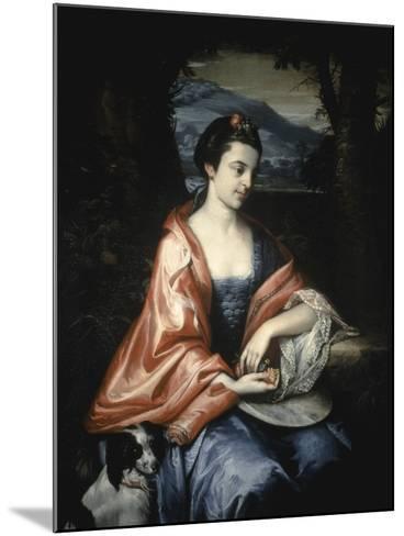 Ann Allen, Later Mrs John Penn, August 1763-Benjamin West-Mounted Giclee Print