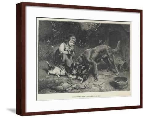 Early Dinner-Carl Reichert-Framed Art Print