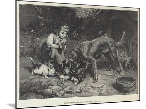 Early Dinner-Carl Reichert-Mounted Giclee Print