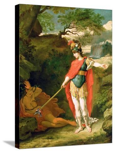 Perseus and Medusa-Benjamin West-Stretched Canvas Print