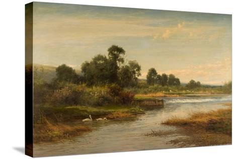 Goring on Thames, 1873-Benjamin Williams Leader-Stretched Canvas Print