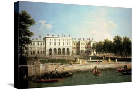 Old Somerset House from the River Thames, London-Canaletto-Stretched Canvas Print