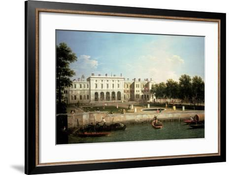 Old Somerset House from the River Thames, London-Canaletto-Framed Art Print