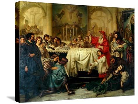 Death of Raphael-Carl Thiel-Stretched Canvas Print