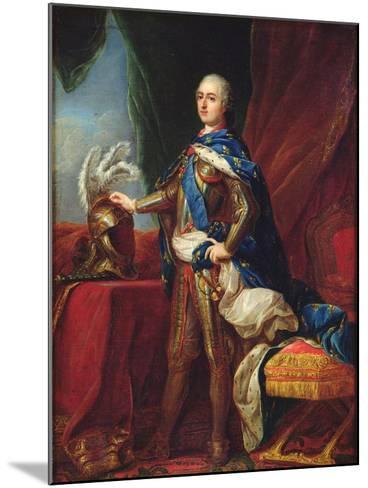 Portrait of Louis XV in Armour-Carle van Loo-Mounted Giclee Print