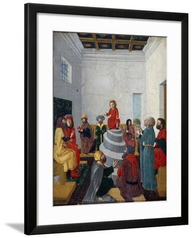 Christ Disputing with the Doctors-Bernadino Jacobi Butinone-Framed Art Print