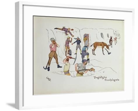 Troglodytic Conchologists, from 'The Leaguer of Ladysmith', 1900-Captain Clive Dixon-Framed Art Print