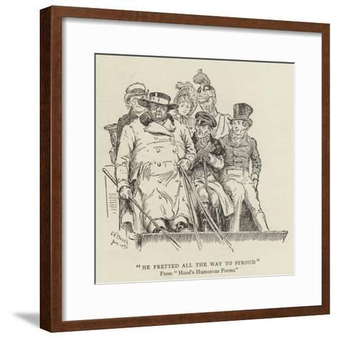 He Fretted All the Way to Stroud, Hood's Humorous Poems-Charles Edmund Brock-Framed Art Print