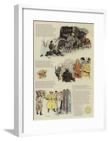 The Biter Bit, a Tale of Coaching Days-Charles Edmund Brock-Framed Art Print
