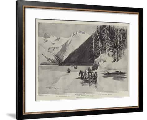 To Klondyke for Gold, View Below the Canon on the Stikine River-Charles Edwin Fripp-Framed Art Print
