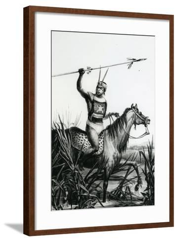 Chief of the Charruas from 'Pitoresque and Historical Trip to Brazil' by Jean Baptiste Debret, 1834-Charles Etienne Pierre Motte-Framed Art Print