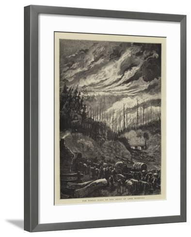 The Forest Fires on the Shore of Lake Michigan-Charles Auguste Loye-Framed Art Print