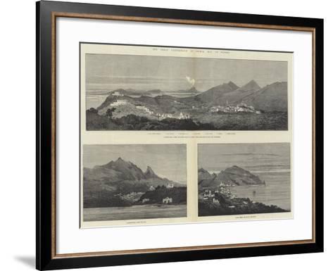 The Great Earthquake in Ischia, Bay of Naples-Charles Auguste Loye-Framed Art Print