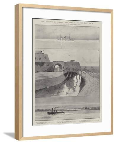 The Advance to Peking, the Capture of the Taku Forts-Charles Auguste Loye-Framed Art Print