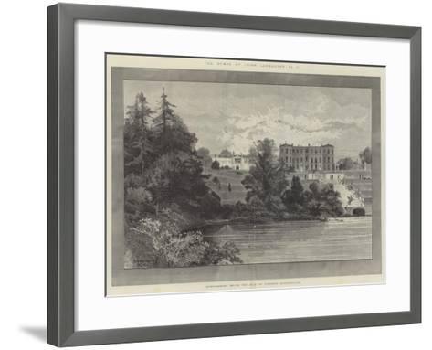 Powerscourt House, the Seat of Viscount Powerscourt-Charles Auguste Loye-Framed Art Print