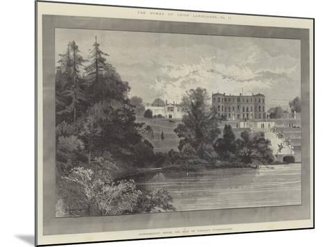 Powerscourt House, the Seat of Viscount Powerscourt-Charles Auguste Loye-Mounted Giclee Print