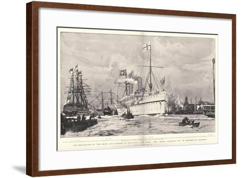 The Departure of the Duke and Duchess of Cornwall and York-Charles Edward Dixon-Framed Art Print