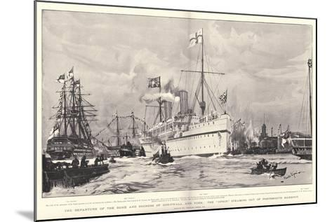The Departure of the Duke and Duchess of Cornwall and York-Charles Edward Dixon-Mounted Giclee Print