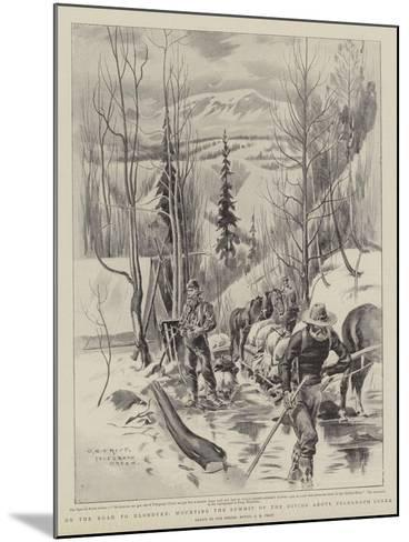 On the Road to Klondyke, Mounting the Summit of the Divide Above Telegraph Creek-Charles Edwin Fripp-Mounted Giclee Print