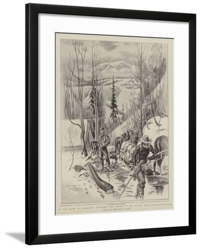 On the Road to Klondyke, Mounting the Summit of the Divide Above Telegraph Creek-Charles Edwin Fripp-Framed Art Print