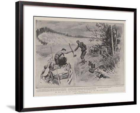 On the Way to the Yukon, Preparing to Camp on the Lewes River-Charles Edwin Fripp-Framed Art Print