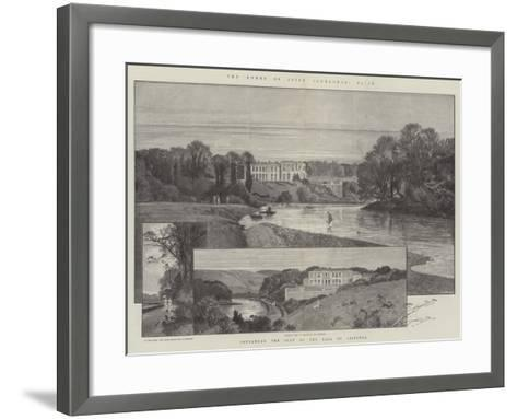Convamore, the Seat of the Earl of Listowel-Charles Auguste Loye-Framed Art Print