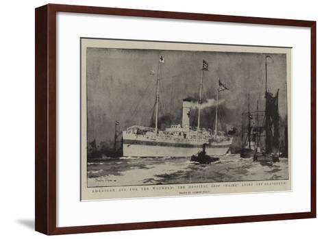 American Aid for the Wounded, the Hospital Ship Maine Lying Off Gravesend-Charles Edward Dixon-Framed Art Print