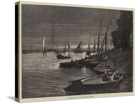 Sketches in Cairo, the Harbour of Boulak-Charles Auguste Loye-Stretched Canvas Print