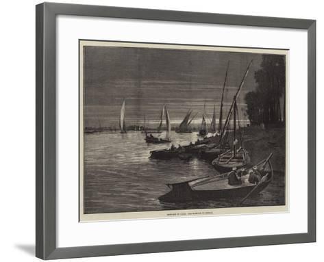 Sketches in Cairo, the Harbour of Boulak-Charles Auguste Loye-Framed Art Print