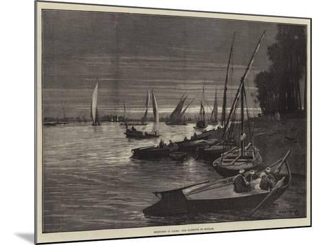 Sketches in Cairo, the Harbour of Boulak-Charles Auguste Loye-Mounted Giclee Print