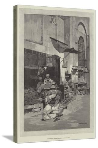 Saddle and Harness Maker's Shop at Cairo-Charles Auguste Loye-Stretched Canvas Print