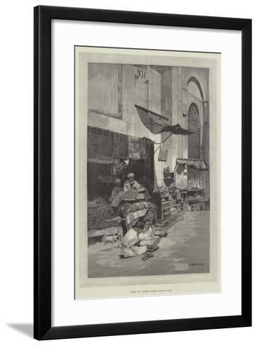 Saddle and Harness Maker's Shop at Cairo-Charles Auguste Loye-Framed Art Print