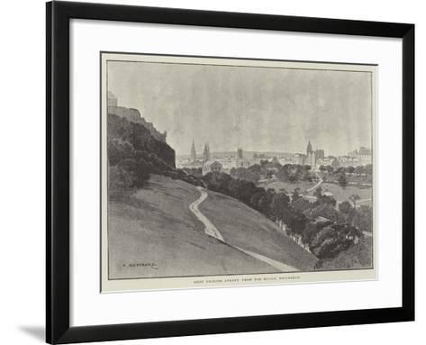 West Princes Street, from the Mound, Edinburgh-Charles Auguste Loye-Framed Art Print