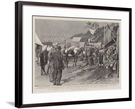 To Klondyke by the All-Canadian Route, the Fourth of July in Dawson City-Charles Edwin Fripp-Framed Art Print