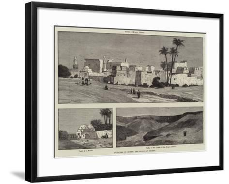 Sketches in Egypt, the Ruins of Thebes-Charles Auguste Loye-Framed Art Print