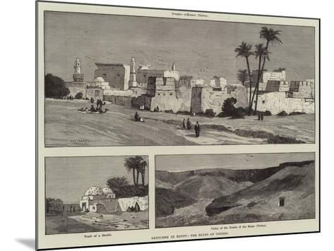 Sketches in Egypt, the Ruins of Thebes-Charles Auguste Loye-Mounted Giclee Print